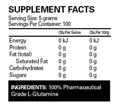 EHPlabs Glutamine Label