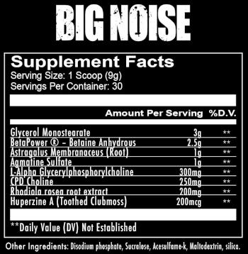 Redcon1 Big Noise label
