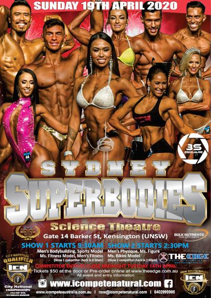 Sydney Superbodies 2020 poster
