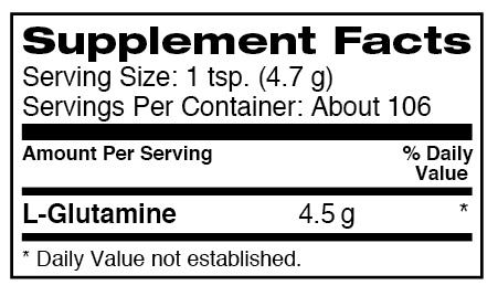 dymatize glutamine label