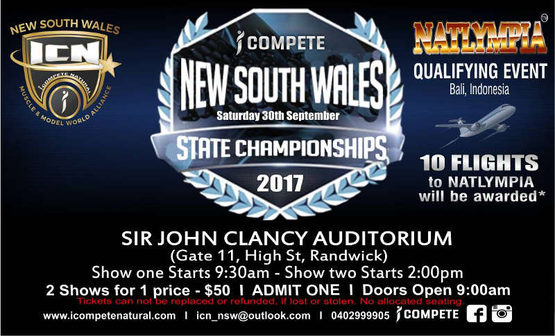 ICN NSW State Championships Poster