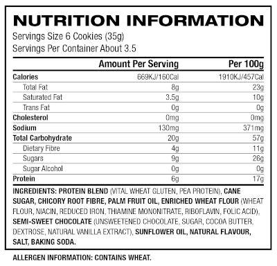 lenny larry crunchy 120g label
