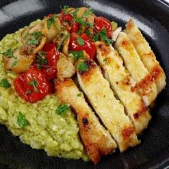 myfitnesskitchn chicken pesto risotto