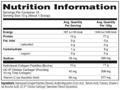 natures best Collagen label