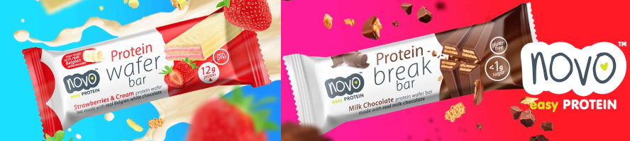 Novo Protein Wafer Bar 40g x 12