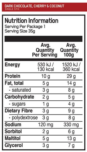 on protein stix single label