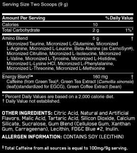 optimum amino energy label