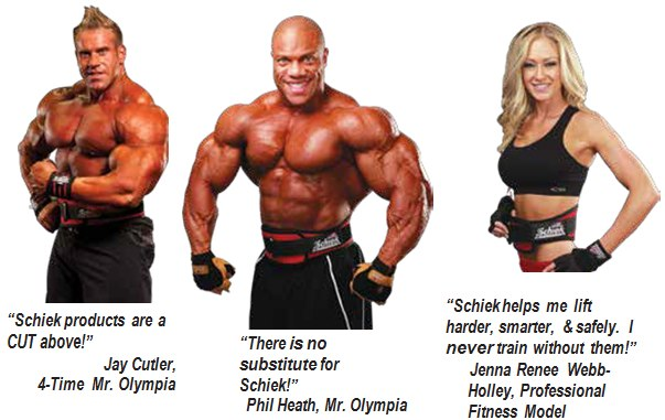 schiek belts testimonials from champion bodybuilders