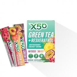 x50 green tea assorted